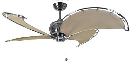 "Fantasia Spinnaker 40"" Stainless Steel & Stone Ceiling Fan 114765"